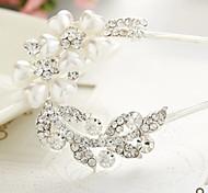 Z&X® Fashion Pearl Hair Combs Wedding / Rhinestone Party / Daily 1pc