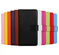 Genuine Leather Full Body Flip Case with Card Slot and Stand Case for iPhone 5C (Assorted Colors)