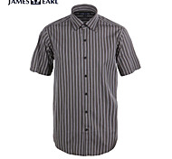 JamesEarl Men's Shirt Collar Short Sleeve Shirt & Blouse Gray - M21X5001221
