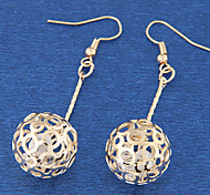 European Style Fashion Metal Ball Earrings
