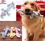 FUN OF PETS® New Dog Toys Pet Puppy Chew Squeaker Squeaky Plush Sound Duck Pig & Elephant Toys