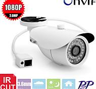 cctv IR LED 2.0mp 1080p 36pcs seguridad ip cámara p2p bala red al aire libre cámara IP de vigilancia a prueba de agua-ir cortar