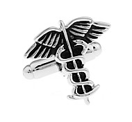 Black Angel Wing Temptation French shirt cufflinks cuff nail