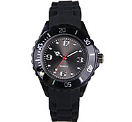 Fashion Black Silicone Quartz Ladies Watch
