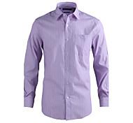 JamesEarl Men's Shirt Collar Long Sleeve Shirt & Blouse Purple - MC1ZC001233