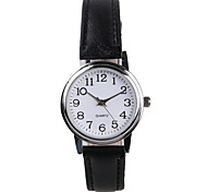 Genuine Simple Black Belt Ladies Watch