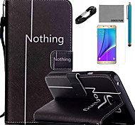 COCO FUN® Leisure Pattern PU Leather Case with V8 USB Cable, Flim and Stylus for Samsung Galaxy Note 5