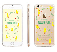 Small Yellow Duck Pattern Transparent TPU Material Phone Case for iPhone 6/ 6S