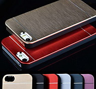 Metal Aluminum Brushed & PC Hard Back Case for iPhone 5/5S