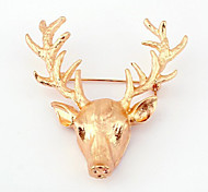 New Arrival Fashion Jewelry Popular Deer Head Brooch