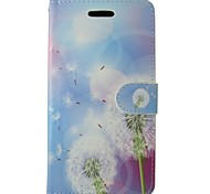 Dandelion Painted PU Phone Case for iphone5/5S