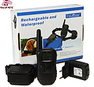 FUN OF PETS® Remote Rechargeable Pet Dog Training Collar with LCD Display 100 Level Charge Shock Vibration