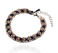 Fashion Drill Cross Chain Alloy Bracelets