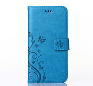 Flowers Butterfly Pattern Inside and Outside Printing Holder PU Leather for Samsung Galaxy Note  4/5(Assorted Colors)