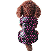Dog Coat / Clothes/Clothing Multicolored Winter Polka Dots Wedding / Birthday / Christmas / Holiday / Keep Warm / Fashion