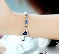 Fashion Crystals Heart Shape Bracelet