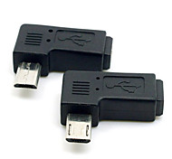 CY® Right Turning 90 Degree Female Mini USB to Male Micro USB for Phones/Tablets