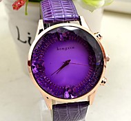 Leisure Style Business Water Resisitant  Leather watch clock butterfly