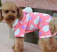 Dog Coat / Hoodie Pink Winter Hearts Valentine / Keep Warm / Fashion