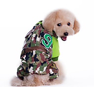 Dog Coat / Clothes/Jumpsuit / Clothes/Clothing Multicolored Winter Camouflage Fashion / Camouflage / Keep Warm