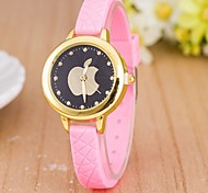 Woman Apple Diamond Wrist  Watch