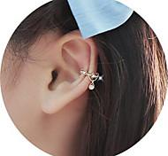 Brinco Brincos Compridos / Punhos da orelha Jóias 2pçs Liga Feminino Prateado