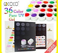 3688 CANNI Nail Art Gel Nail Paint Pure Colors Easy Coloring UV Gel GDCOCO 36 Colors