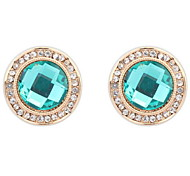 Fine Fashion Round Sapphire-jewelry Luxury Diamond Earrings