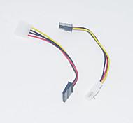 0.15m sata 15pin 0,5 pies de tipo D de 4 pines cable de alimentación de serie ide multicolor 2 pcs envío libre