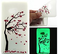 Для Кейс для Nokia Сияние в темноте Кейс для Задняя крышка Кейс для дерево Мягкий TPU Nokia Nokia Lumia 540