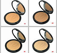 4 Natural Color Face Powder Cake Pressed Makeup Powder Dry Concealer Bronzer Skin Finish(Assorted Colors)
