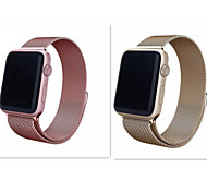 New Milanese Loop Stainless Mesh Replacement Wrist Band for Apple Watch Sport Edition Champagne Gold And Rose 38mm 42mm