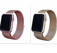 neue milanese Schleife Edelstahl Maschen Ersatz-Armband für Apple-Uhr Sport Edition Champagner-Gold und Rose 38mm 42mm