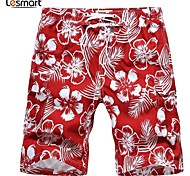 Lesmart Men's Shorts / Loose Pants Red - LX13124