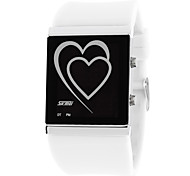 Creative LED Watch Two-Heart-Shaped Waterproof Jelly-Color Watch