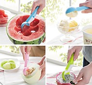 ABS Ice Cream Fruits Spoon Press Button