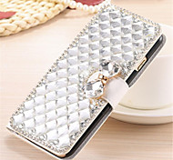 For OnePlus Case Rhinestone / Flip Case Full Body Case Solid Color Hard PU Leather One Plus