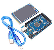 Mega2560 R3 + 3.2 inch TFT IPS 480 x 320 Color Full-Angle LCD Module for Arduino