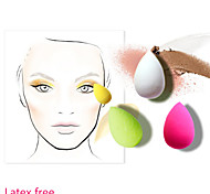 Mini 2in1 Dry&Wet Water Drop Microfiber Sponge Powder Puff for Concealer Foundation Blusher Water Swellable