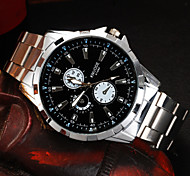 Men's Watch High Grade Fashion Business Casual Double Digital Scale Individual Meter Disc Type Steel Band Watch Wrist Watch Cool Watch Unique Watch