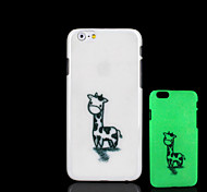 Giraffe Pattern Glow in the Dark Hard Plastic Back Cover for iPhone 6 for iPhone 6s Case
