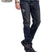 Lesmart Hommes Jeans / Droite Pantalon Noir / Bleu / Rouge / Vert - DX13193