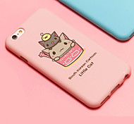iFashion® Candy Color Pink Cup Lovely Cat Silica Gel Soft Case for iPhone 6/6s
