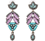 New Arrival Fashional Retro Gemetric Gem Earrings