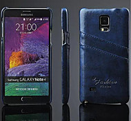 люкс ПУ кожаный чехол с слотом для карт Galaxy Note 4