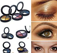 4 Sombra de Ojos Seco Paleta de sombra de ojos Polvo Normal