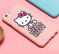iFashion® Candy Color Pink Bowknot Lovely Gril Cat Pattern Soft Case for iPhone 6/6s