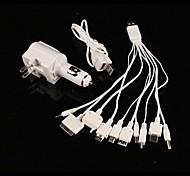 10-in-1 Universal-USB-Auto-Ladegerät Adapter