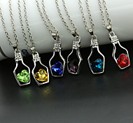 Women's Fashion Wishing Bottle Love Shape Crystal Pendant Necklace Jewelry Wholesale  1pc