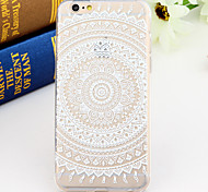 Black and White Style Wreath 2-Times Printed TPU Soft Back Cover for iPhone 6/6S
